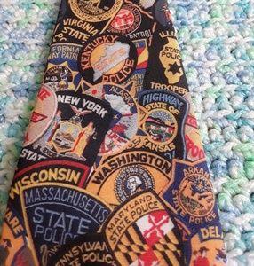 Ralph Marlin State Police Patches Necktie